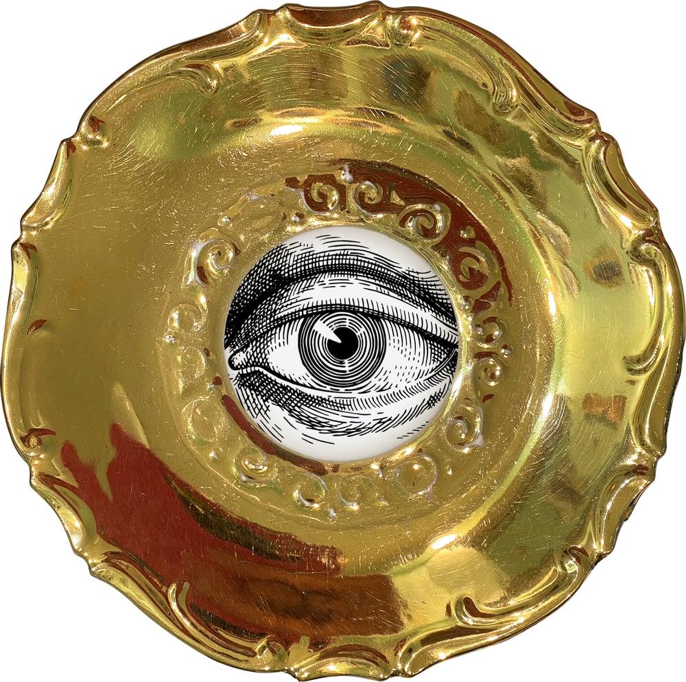 Image of  Lover's eye C - #0752 - DELUXE EDITION - Vintage German porcelain plate