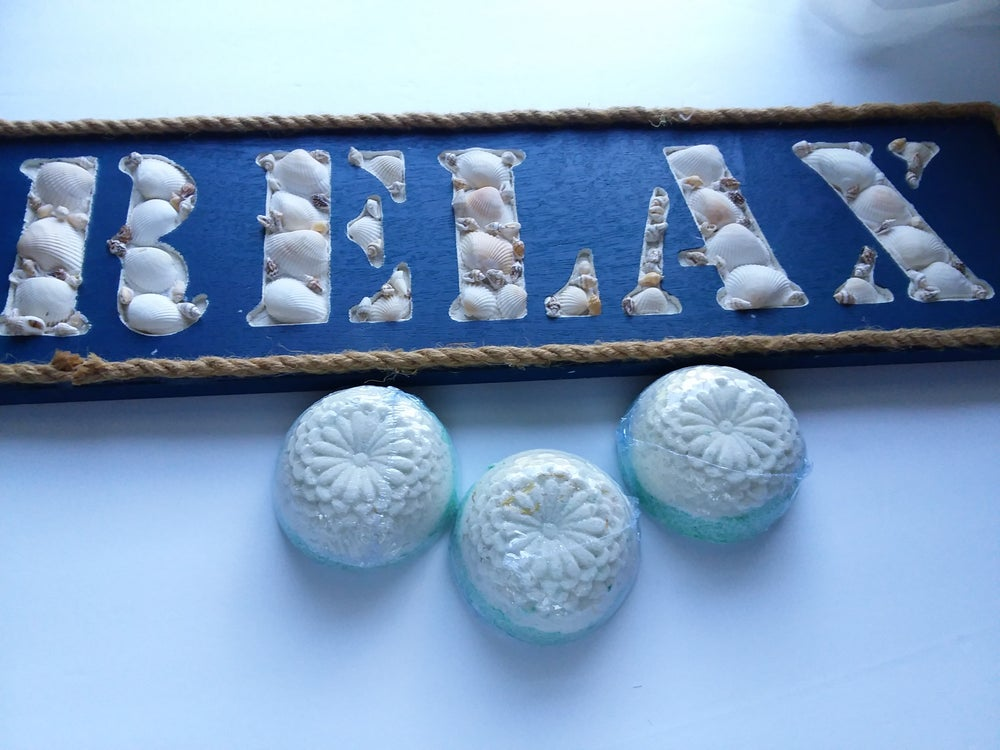 Image of Milk Bath Bombs. Fresh, Handmade natural relaxation + aromatherapy gift! Moisturize + Relax.