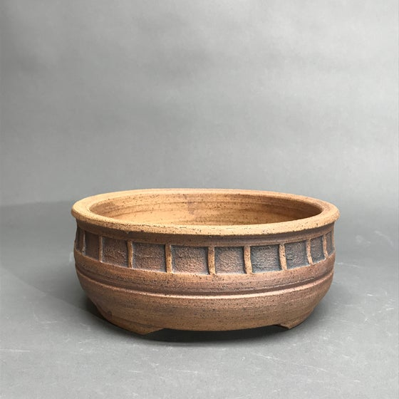 Image of 342 Deep Banded Round, Unglazed