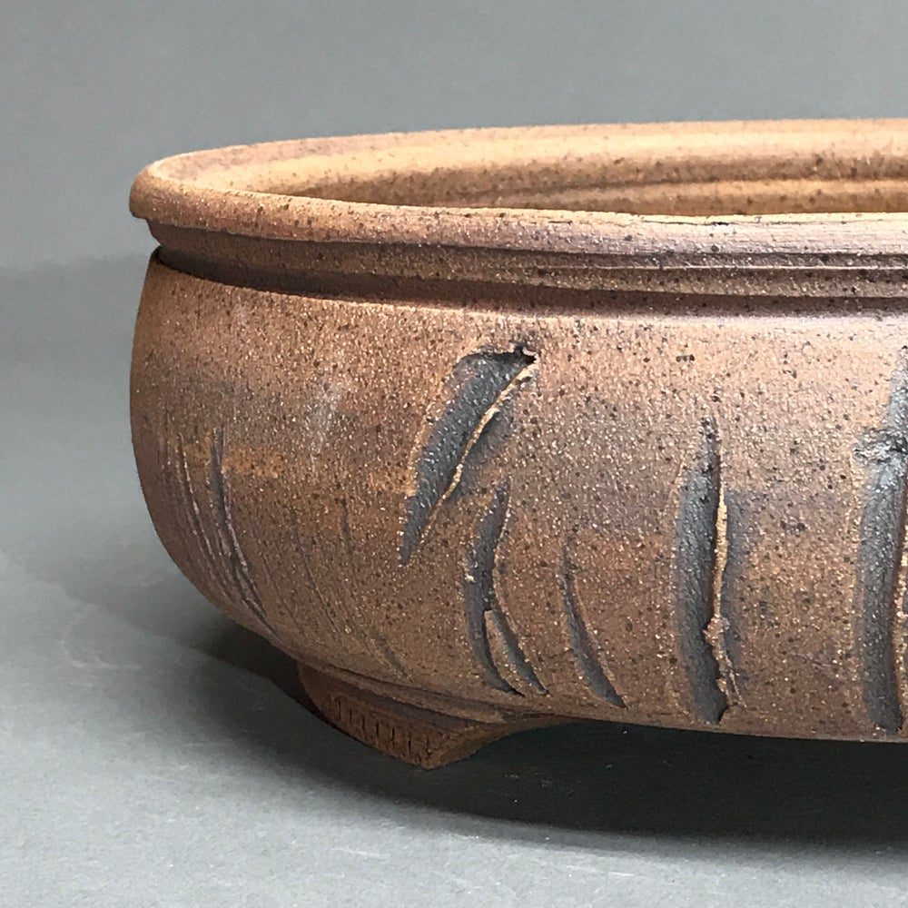 Image of 346 Unglazed Round Bonsai Pot