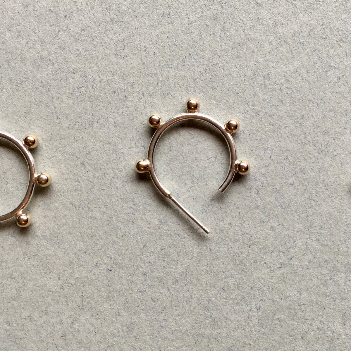 The Frida Hoops in Silver and 9ct gold