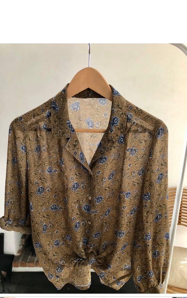 Image of Blouse vintage col pyjama