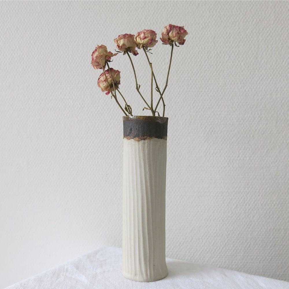 """Image of Vase tube """"Krafty"""" - blanc"""