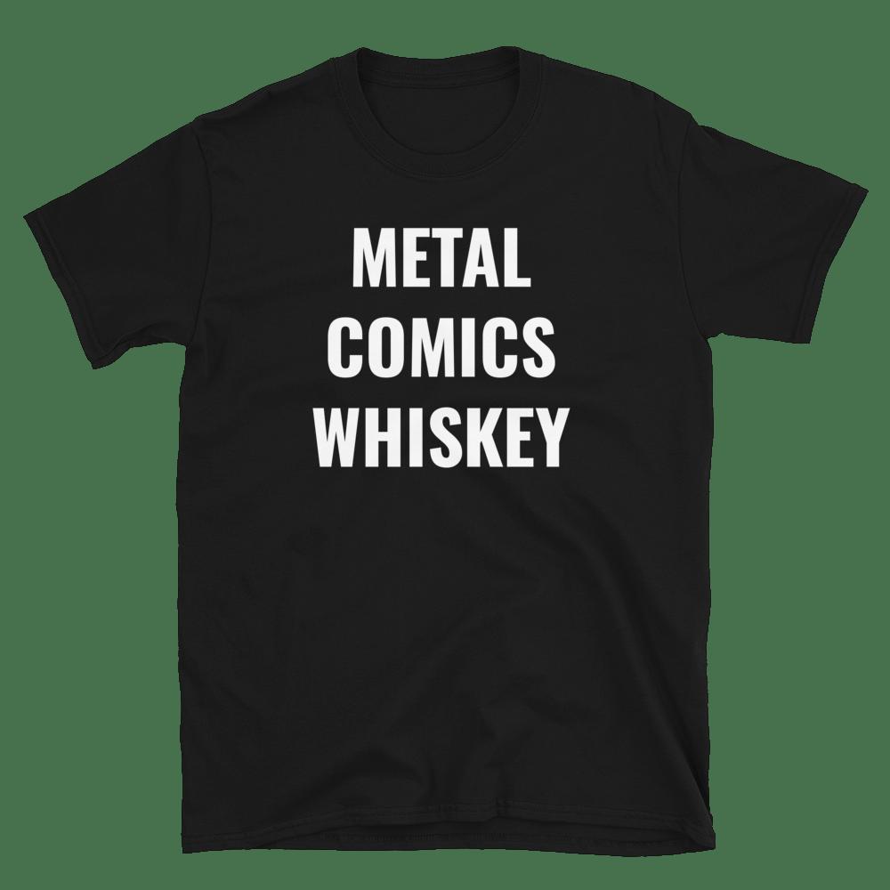 Image of Metal Comics Whiskey Tshirt