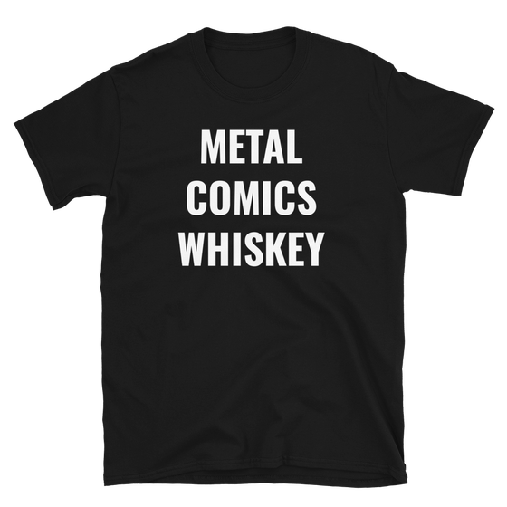 Image of Metal Comics Whiskey Tshirt
