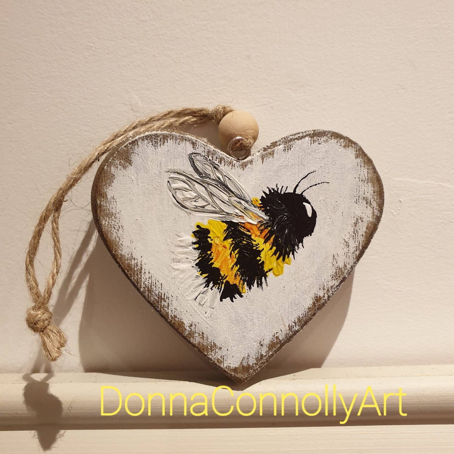 Image of Wooden hanging heart