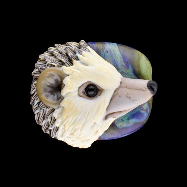 Image of XL. Hungry Hedgehog - Flamework Glass Sculpture Bead