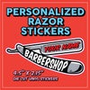 Personalized Razor Stickers w/ Your shop name