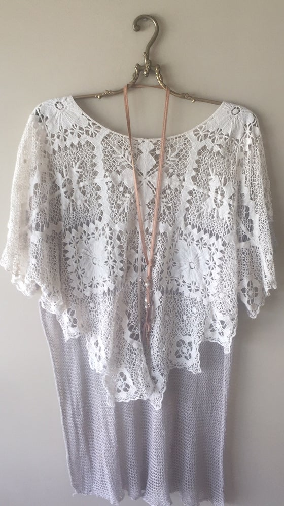 Image of Free People Patchwork Kaftan  One size overized