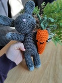 Crochet Stuffed Toy Bunny with Carrot