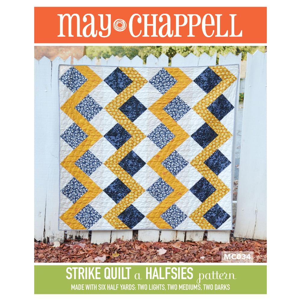 Image of Halsies Strike Quilt Pattern