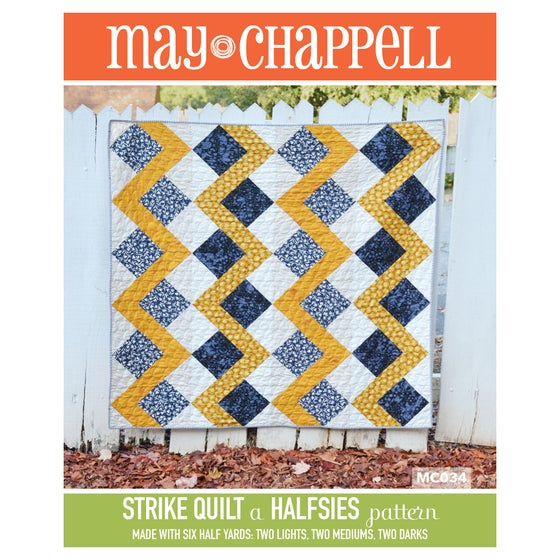 Image of Halsies Strike Quilt Pattern