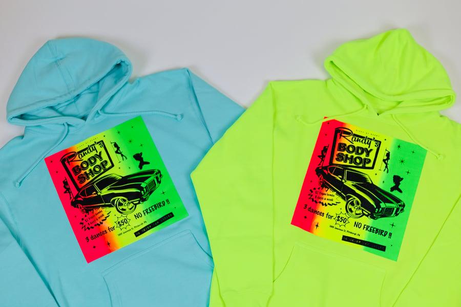 Image of *PRE-ORDER* Randy's Body Shop Heavyweight Hooded Sweatshirts