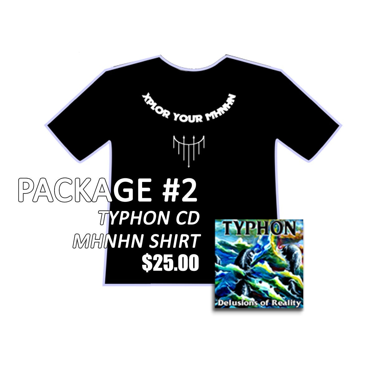 Image of Typhon CD + Shirt
