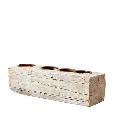Image of RECLAIMED WOOD CANDLE HOLDER