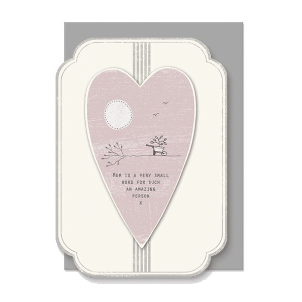 Image of East of India Mum is a very small word Card