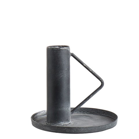 Image of CHARCOAL METAL CANDLESTICK
