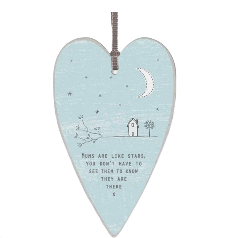 Image of East of India Heart tag Mums are like Stars