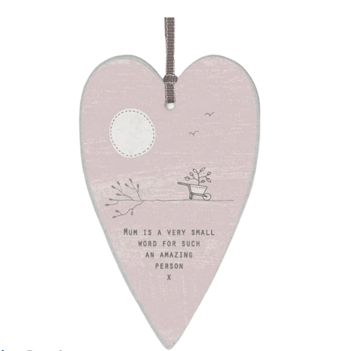 Image of East of India Heart Tag Mum is a very small word