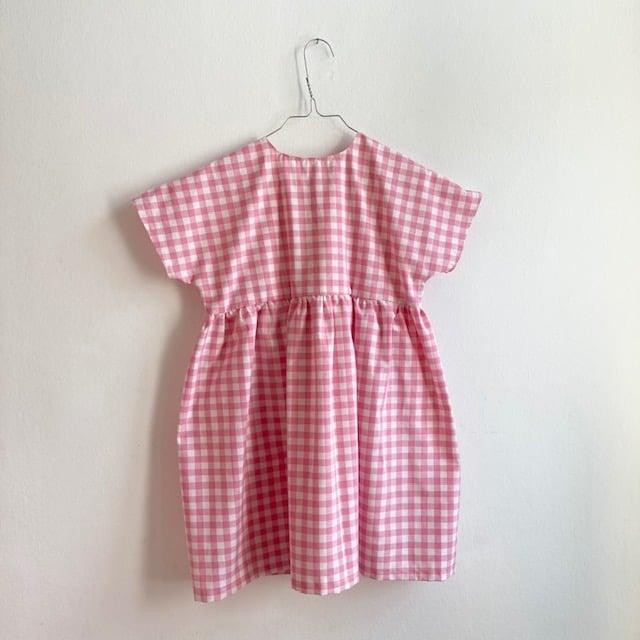 Garden Dress-pink check