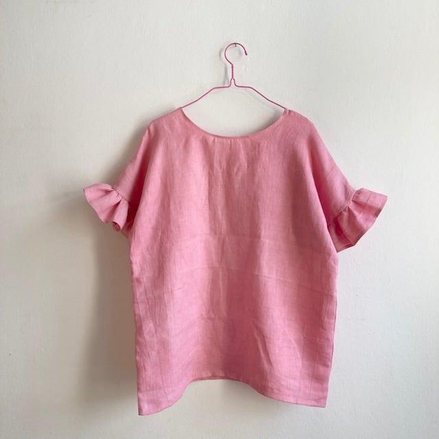 Jonna Blouse - pink linen WOMEN