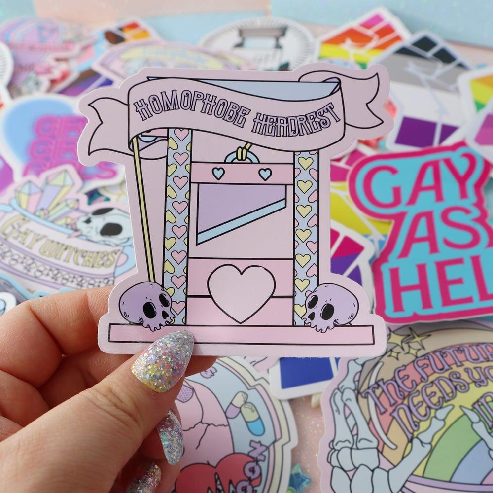 Image of Homophobe Headrest Large Vinyl Sticker