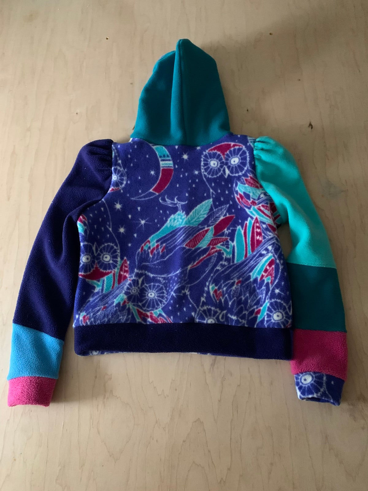 Image of Cosmic Synchilla Patchwork Hoodie