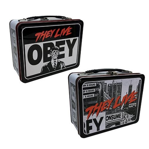 Image of They Live Obey Tin Tote Lunchbox