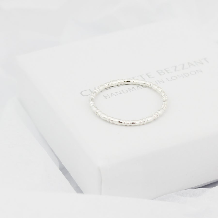 Image of Teeny silver spindle ring