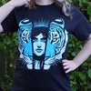 'Tiger, Tiger' T-Shirt - Limited Edition - Blue on Black