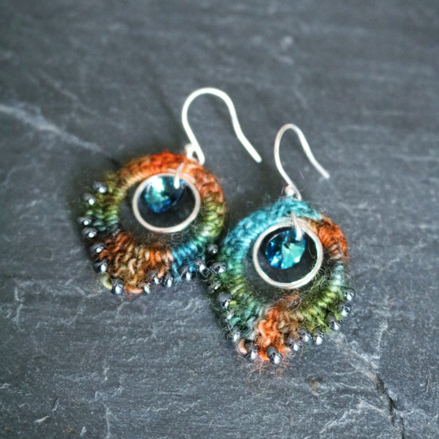 Image of PEACOCK EARRINGS - Eden