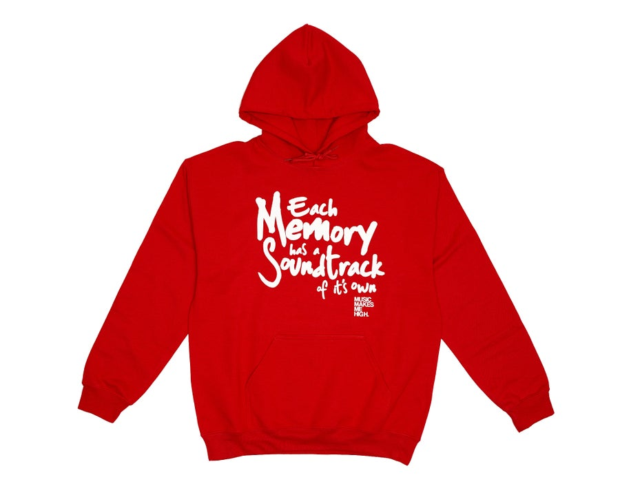 Image of *MMMH SOUNDTRACK HOODIE*Red (unisex)