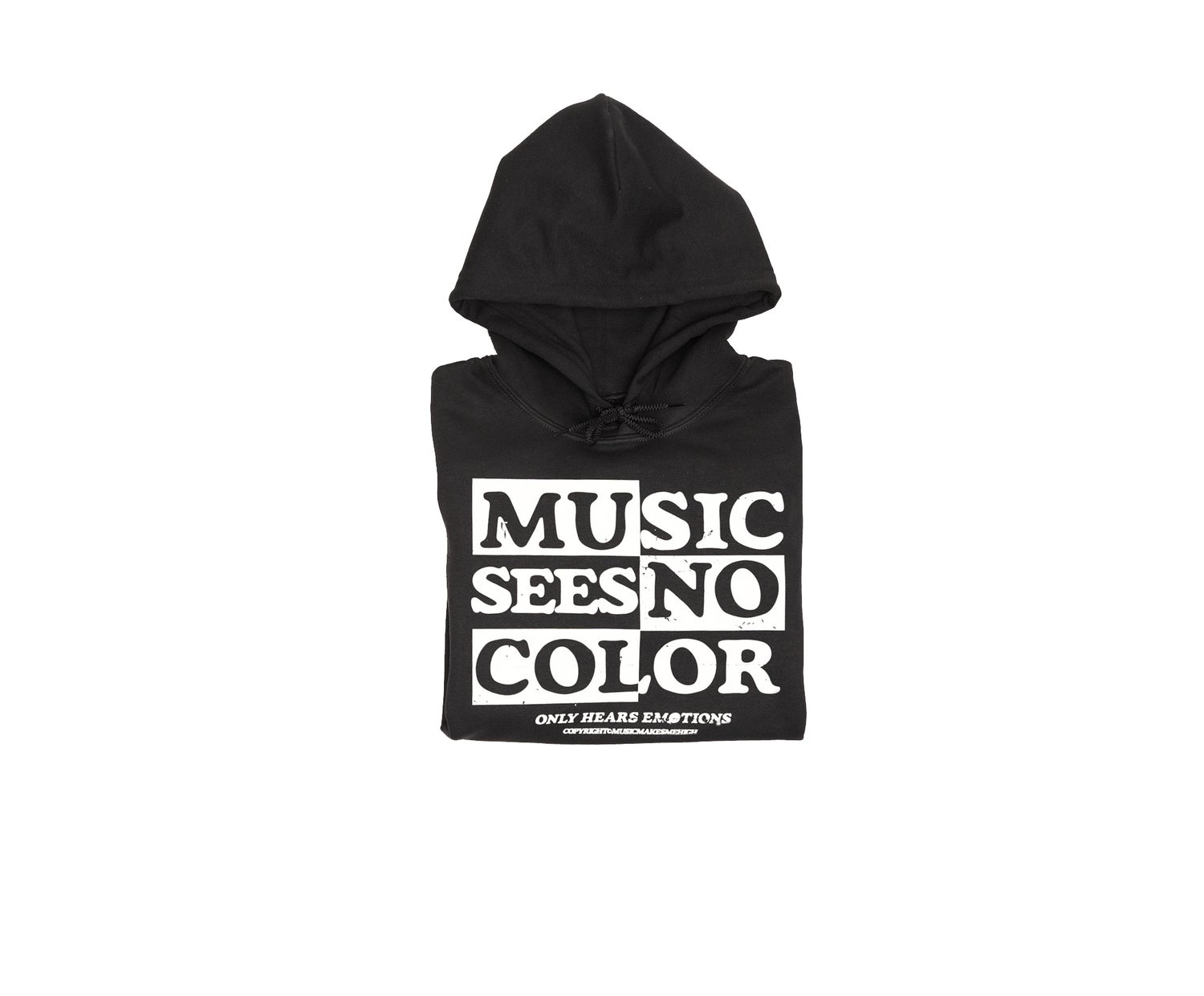 Image of *MMMH SEE NO COLOR  HOODIE* Black (unisex)
