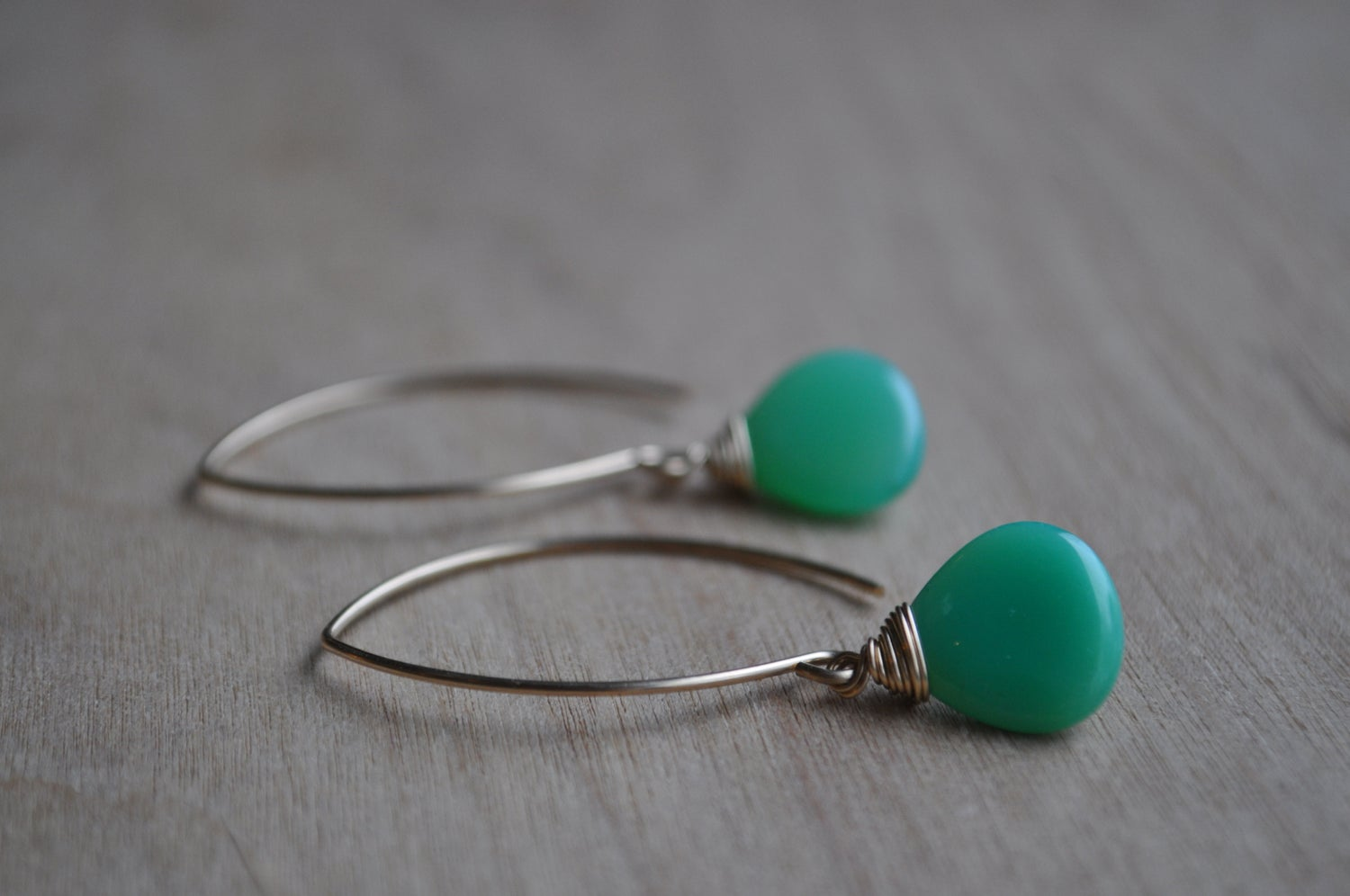 Image of Simple Chrysoprase Drops