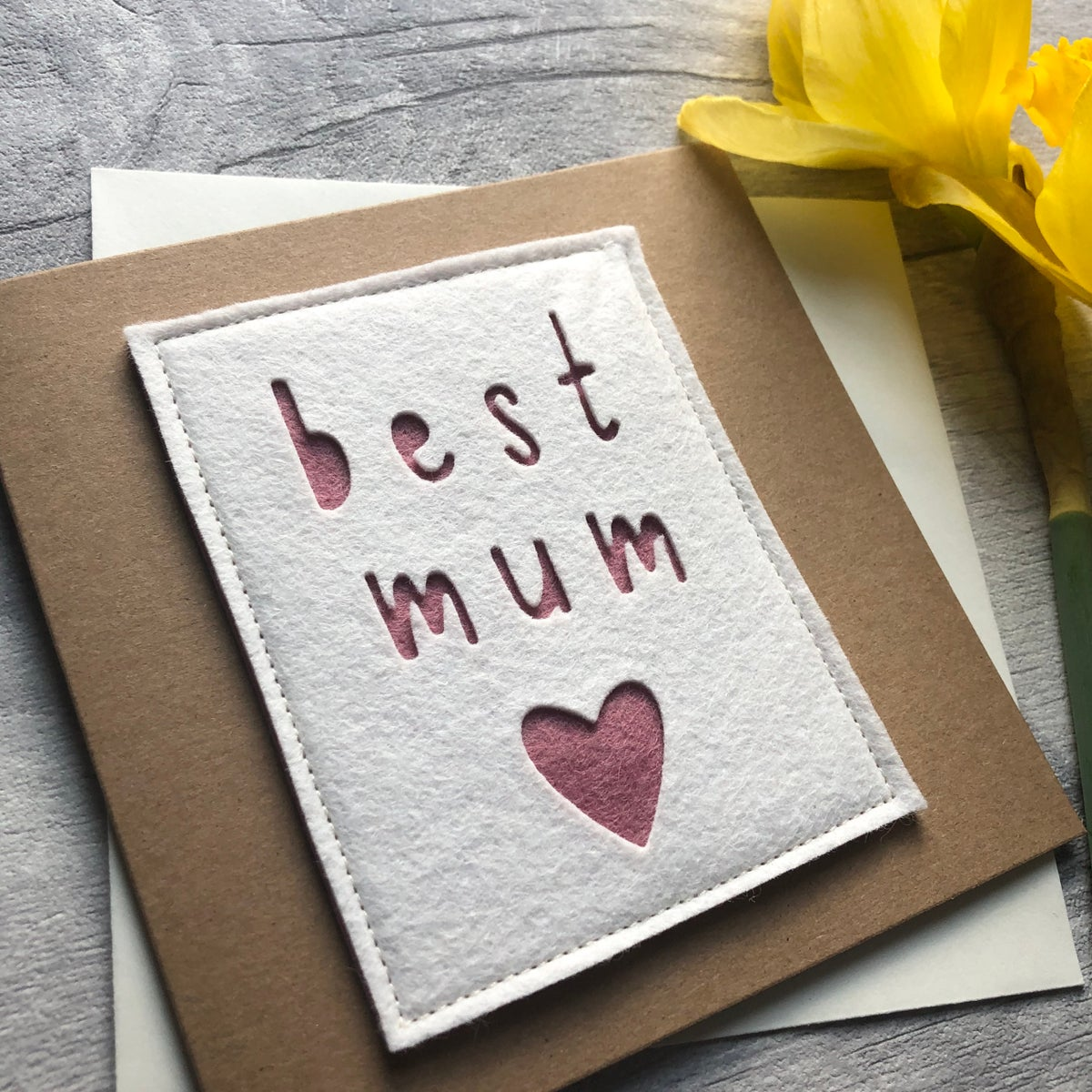 Image of Best Mum Mother's Day Felt Card