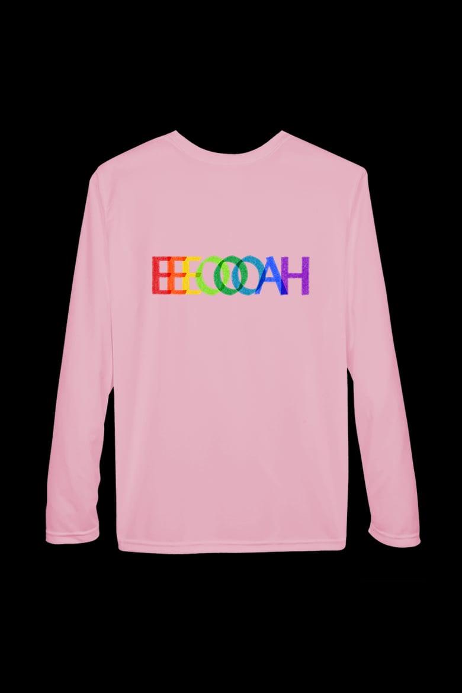Image of EEEOOOAH/SIMPLE RAINBOW - Long Sleeve Tee