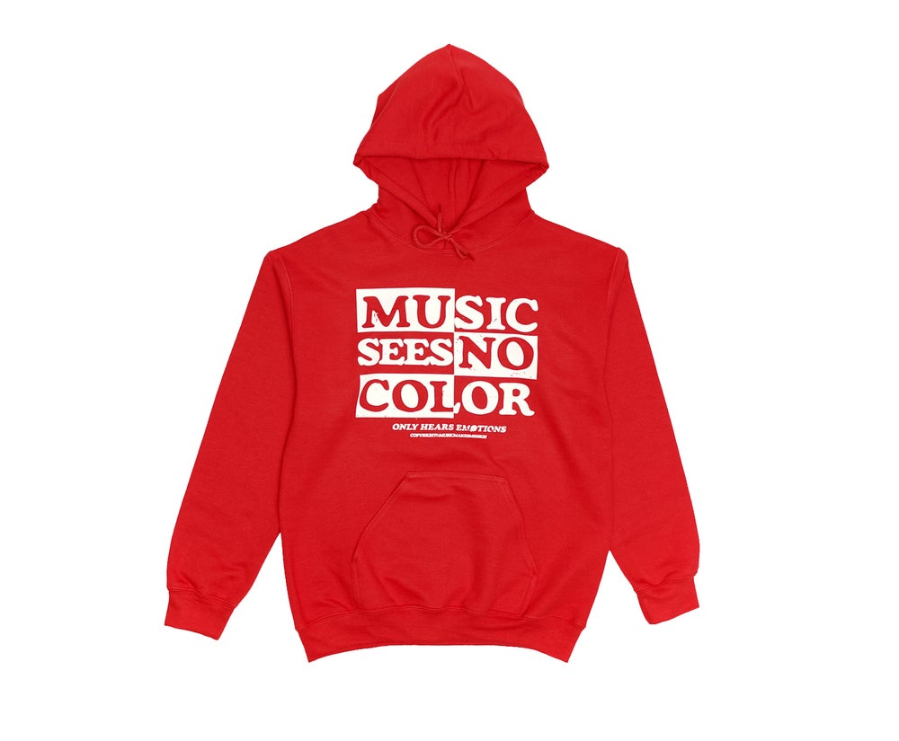 Image of *MMMH SEE NO COLOR  HOODIE* RED (unisex)