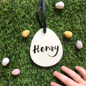 Image of Personalised Ceramic Easter Egg Decoration