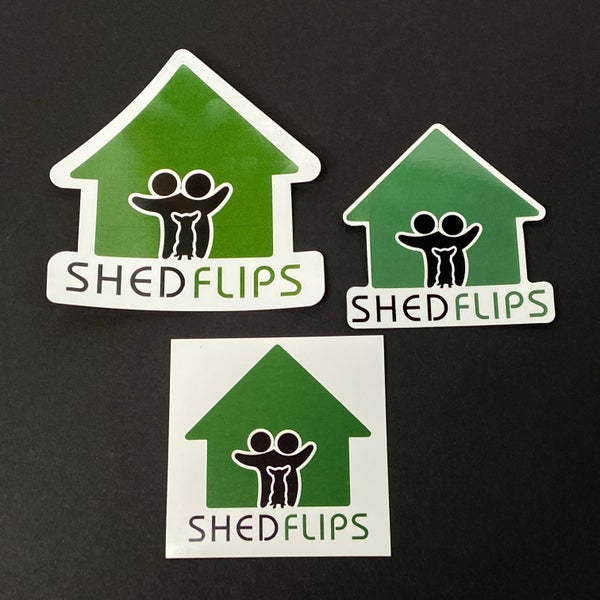Image of Shed Flips Diecut, Sticker and Magnet Combo