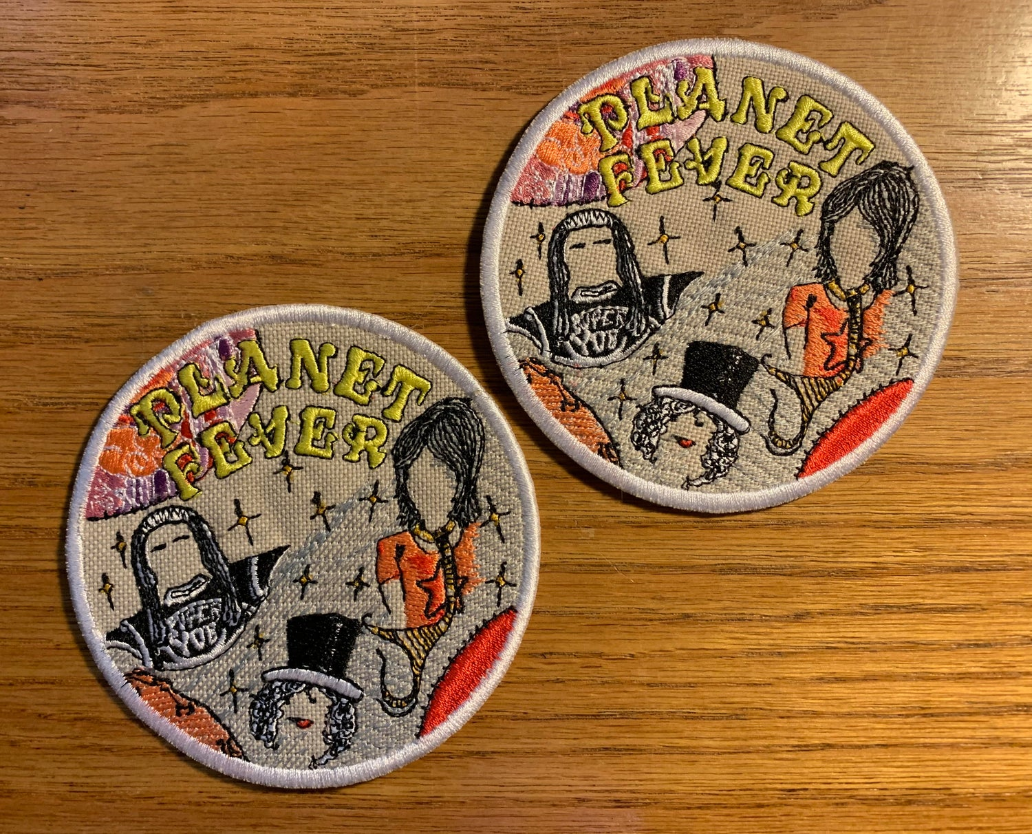 """Image of PLANET FEVER 3.75"""" Custom Embroidered PATCH"""