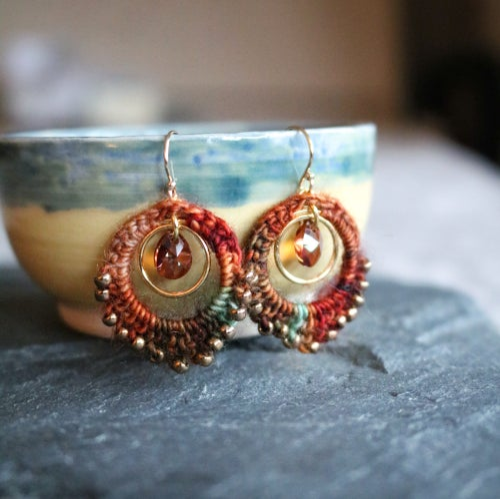 Image of PEACOCK EARRINGS - Lal Qila