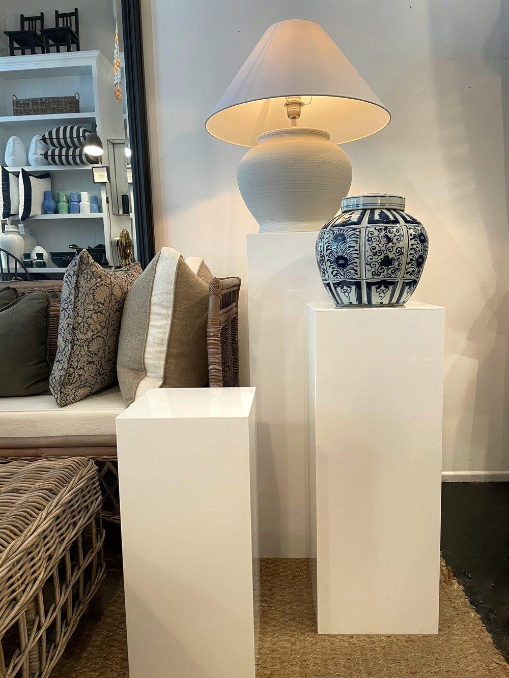 Image of White Acrylic Plinth