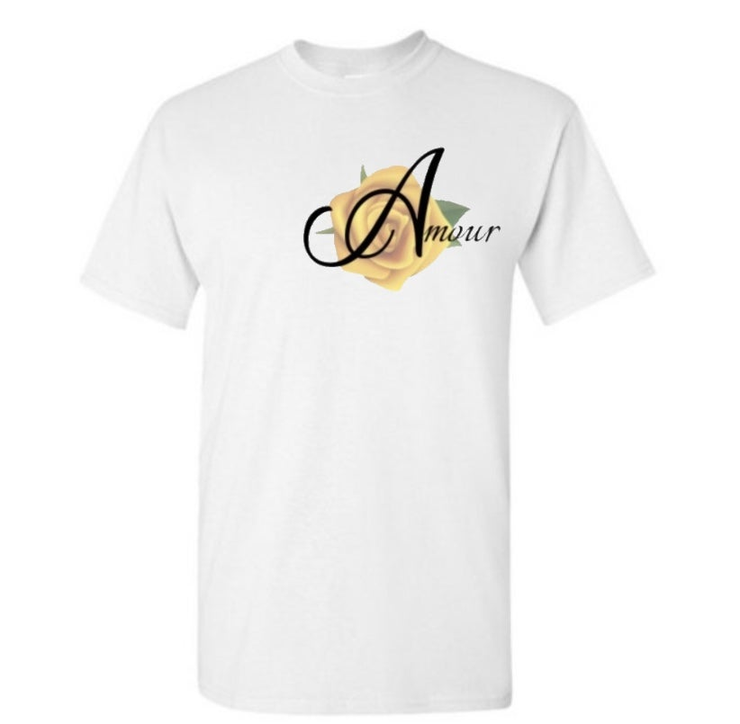 Amour Tshirt Rose Logo
