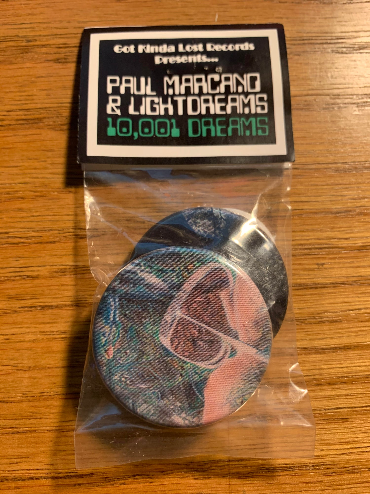 Image of PAUL MARCANO & LIGHTDREAMS - '10;001 Dreams' BUTTON PACKS