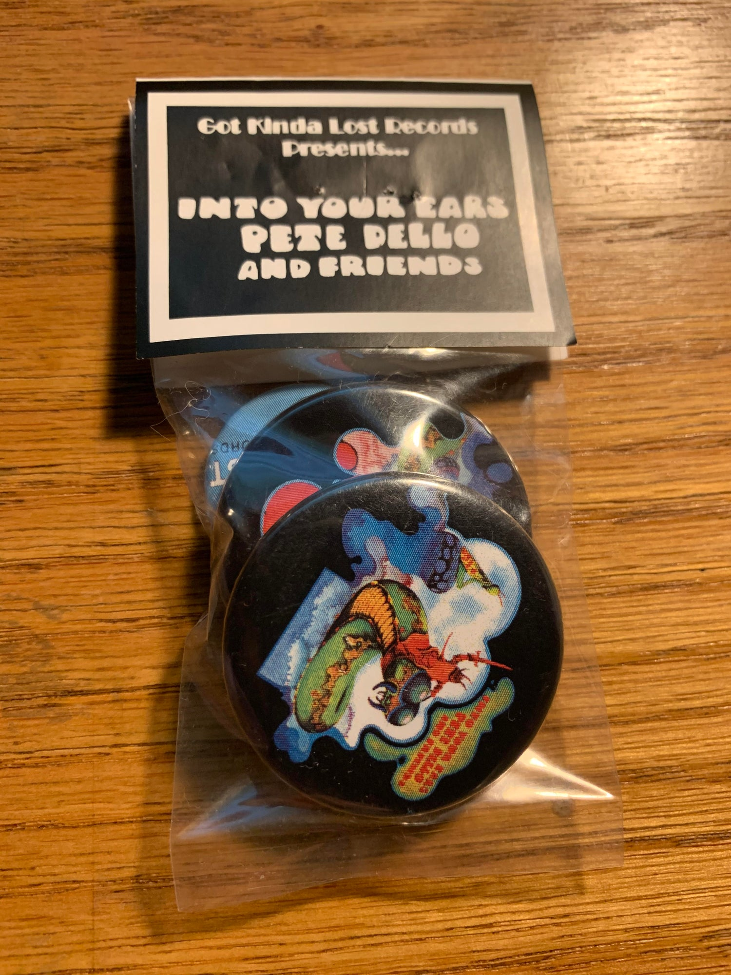Image of PETE DELLO & FRIENDS - 'Into Your Ears' BUTTON PACKS