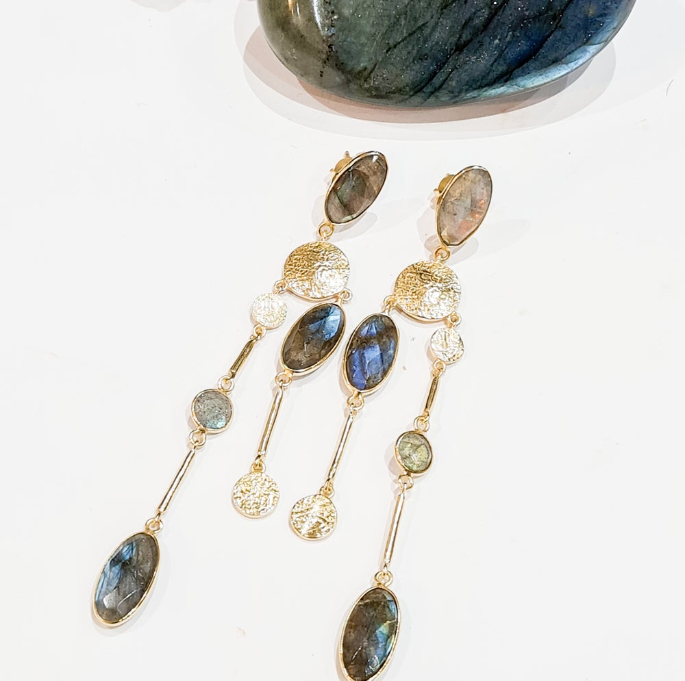 Image of Labradorite Chandelier Earrings