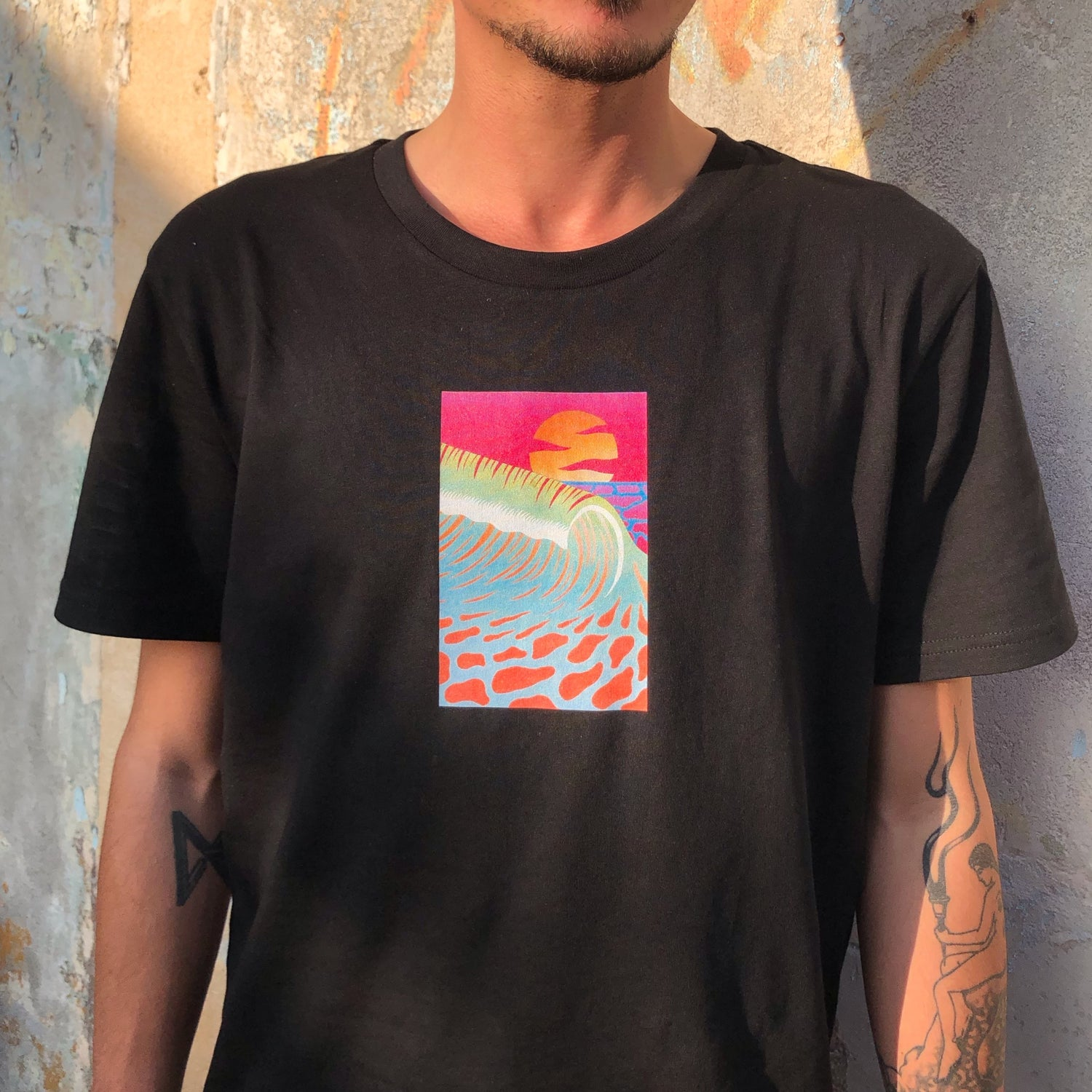 Image of Sunset Wave T-shirt - FLÉX