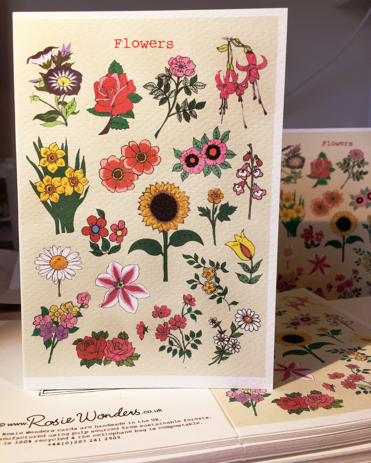 Flowers Picture Handmade Card