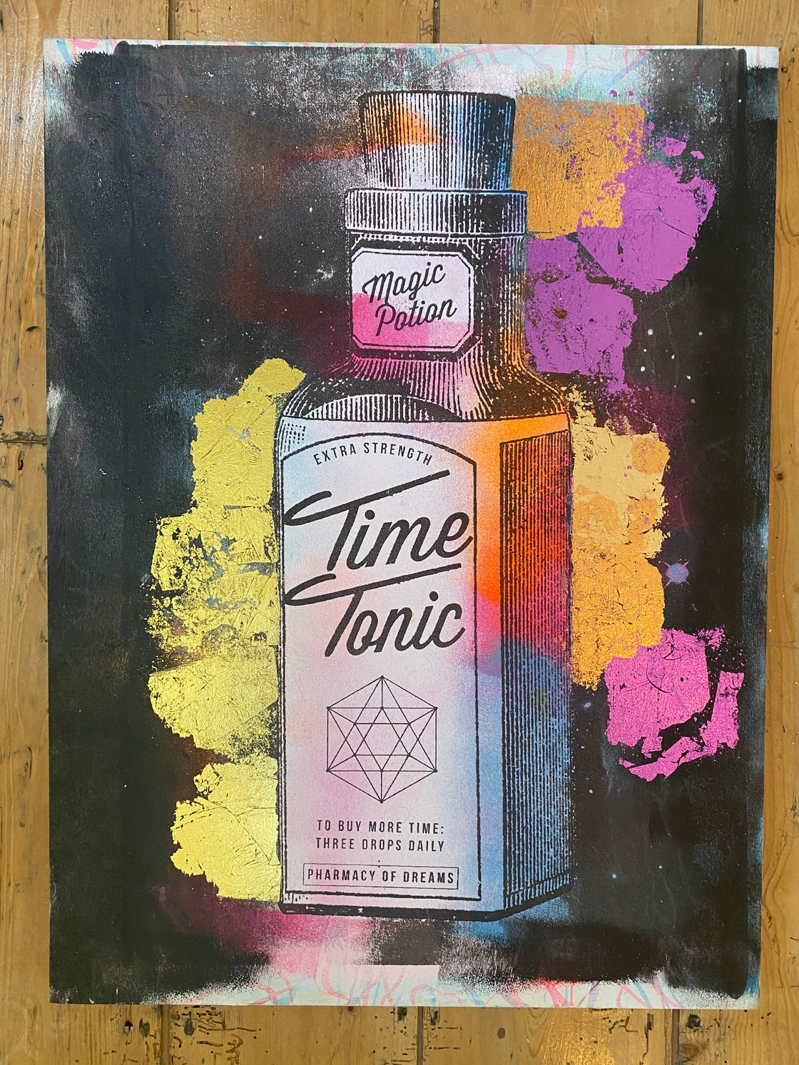 Image of TIME TONIC  (on wood)