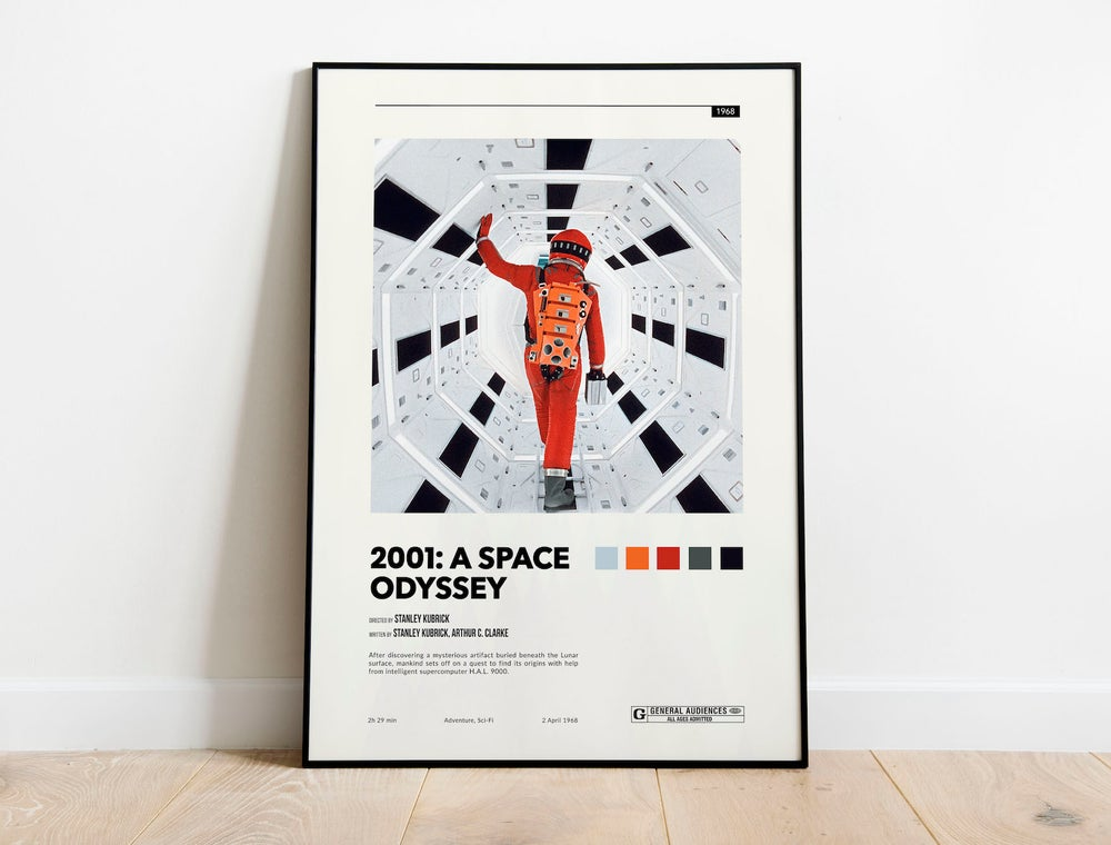 2001 Space Odyssey - Stanley Kubrick Movie Poster